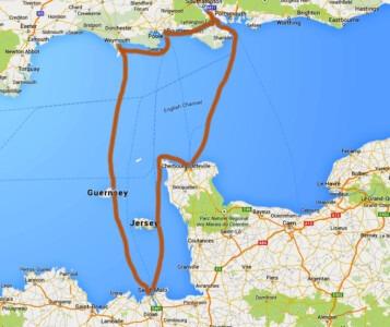 Englischer Kanal Reiseroute